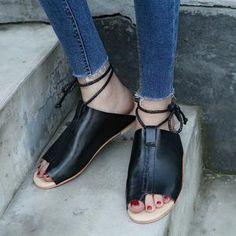 80cf5f6af94 the good samaritan leather roman tie sandals. Platform Wedges ShoesWedge  ShoesFlat SandalsGladiator ...