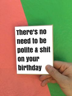 Birthday Card Happy Birthday Card Funny Birthday Just by SaltyDays