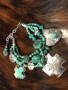 Vintage Joan Slifka Southwest Sterling Turquoise Spiny Charm ...