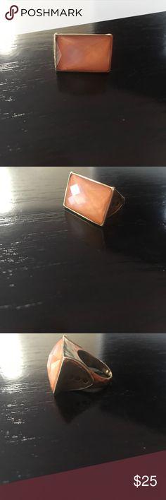 Silpada Orange stone/gold tone ring Silpada Orange stone/gold tone ring    Size 8 Silpada Jewelry Rings