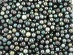 blue-green coloured pearls