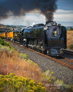 UP 844 Steam Locomotive at the Dalles - Oregon