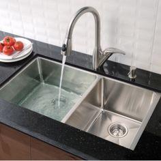 Kindred QD1831/8 Steel Queen Topmount 31.25-in Double Kitchen Sink ...