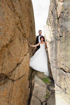 no Bryllup i Larvik One Shoulder Wedding Dress, Wedding Dresses, Fashion, Bride Gowns, Wedding Gowns, Moda, La Mode, Weding Dresses, Wedding Dress