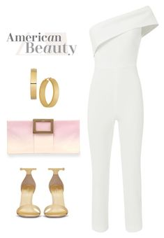"""""""Chic Jumpsuit"""" by explorer-14317880571 ❤ liked on Polyvore featuring Cushnie Et Ochs, Roger Vivier, Yves Saint Laurent and jumpsuits"""