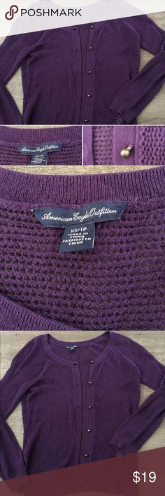 💜AMERICAN EAGLE OUTFITTERS💜CARDIGAN!💜 This is sort of a waffle knit sweater with cute buttons.  I bundle at 20% off. I have plenty to list just let me know what you need as I may have it. This new from a smoke free home. Hope you love it! American Eagle Outfitters Sweaters Cardigans