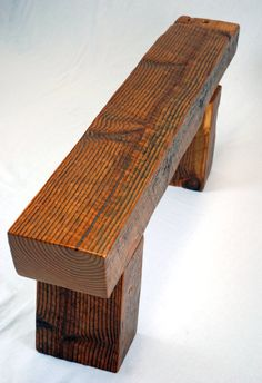 Timber Frame Beam Bench in Reclaimed Fir Handmade Wood Furniture, Log Furniture, Outdoor Furniture, Rustic Sofa, Rustic Farmhouse, Farmhouse Bench, Timber Bench Seat, Yard Benches, Barn Wood Projects