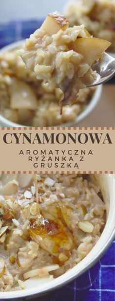 Cynamonowa ryżanka z gruszką | Słodkie Gotowanie Sweet Cooking, Cheeseburger Chowder, Macaroni And Cheese, Pear, Cinnamon, Healthy Lifestyle, Oatmeal, Soup, Rice
