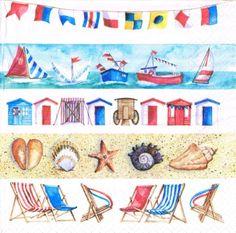 Decoupage Paper Napkins 4 Pieces BEACH LIFE por LanternsByTamara