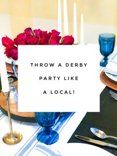 Derby Party: Derby Like a Local! Check out these tips, recipes, and more! Derby is only 10 days away...better start planning!