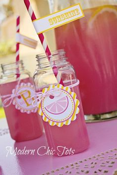 Sunshine and Lemonade Printable Party Package