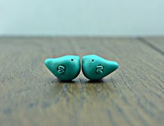 Little Bird Bead polymer clay bird bead by DitsyBlueBeads on Etsy
