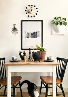 ▲ New in town ▼ Loft Design, Küchen Design, Interior Design, Cozy Kitchen, Kitchen Decor, Studio Apartment Living, House Plants Decor, Dining Room Inspiration, Kitchen Interior