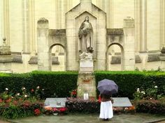 The graves of Bl. Zellie and Louis Martin, the parents of St. Therese, behind the Basilica of St. Therese in Lisieux, France. From a trip to Lisieux in 2005.