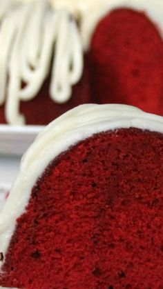 Red Velvet Bundt Cake ~ moist crumb, vibrant color, this Pound Cake is perfect for any occasion, especially the Holidays!