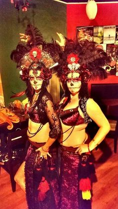 """Dance costumes ~ A belly dance fusion """"Day of the dead"""". By Andromeda dance fusion."""