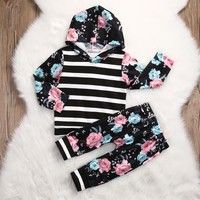 Wish | Kids Toddler Baby Girl Clothes Tops Hoodies Hooded Long Sleeve Sweatshirt Pants 2pcs Cute Girls Clothing Outfits Set