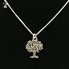 Sterling Silver Tree of Life Charm Necklace, Tree of Life Pendant, Tree of Life Necklace, Sterling Silver Pendant Necklace, Charm Necklace - Wedding nacklaces (*Amazon Partner-Link)