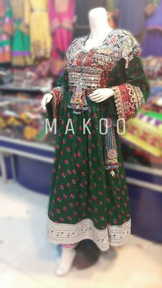 Hand embroidered beautiful Afghan dress.