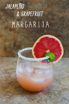 Paleo Friendly Jalapeño & Grapefruit Margaritas - put a spicy twist on a classic
