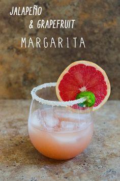 Paleo Friendly Jalapeño & Grapefruit Margaritas - put a spicy twist on a classic