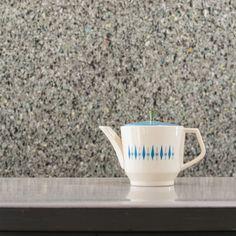 mid century modern - Ceramic Teapot - Diamond Carousel Pattern by Nest Stone Stetson Mar-Crest - Atomic Era Tea Pot