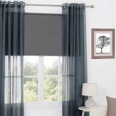 KOO Orlando Eyelet Curtain Graphite 200 x 223 cm