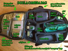 The doula bag:)  An external flash, and extra lenses?.... yes, please