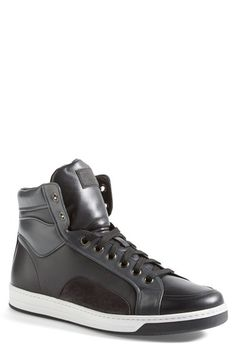 Prada 'Avenue' High Top Sneaker (Men)