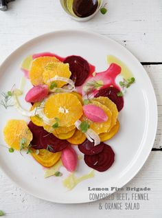 beet, orange & fennel salad
