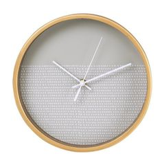 Hama Wanduhr geräuscharme Uhr ohne Ticken, leise, 26 cm, Holz »modernes Punkte-Design, rund« für 29,99€ bei OTTO