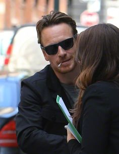 Michael Fassbender Arriving At His Hotel In NYC   April 30 2015 CelebSpotting heaven!