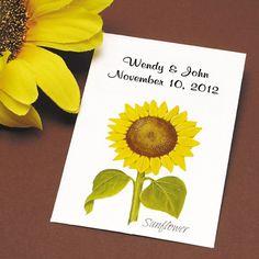 sunflower seed packets for sunflower wedding flowers or sunflower wedding favors Sunflower Seed Wedding Favors, Jam Wedding Favors, Orange Wedding Flowers, Cheap Wedding Flowers, Unique Wedding Favors, Wedding Ideas, Wedding Stuff, Party Favors, Wedding App