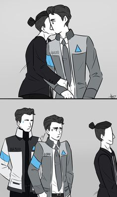 Detroit Become Human meme {and fanart} book ✔ - everyone wants to kiss connor - Wattpad Humans Meme, Detroit Become Human Connor, Becoming Human, I Like Dogs, Tv Quotes, Funny Comics, The Twenties, How To Become, Fan Art