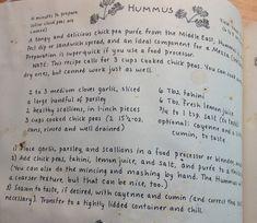 Tried and true Moosewood hummus recipe!