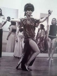 Jamila Salimpour teaching belly dance to a class in the 1970s.