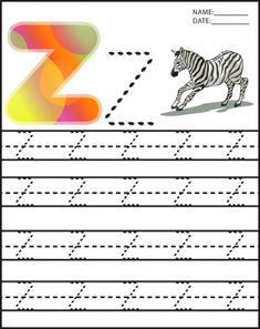 Alphabet Uppercase Letter Z Worksheets