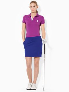 This classic polo shirt is crafted from stretch cotton mesh and features contrast tipping at the collar and our signature embroidered pony at the chest. #Fashion  #RalphLauren
