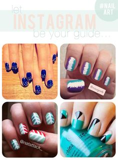 Current favorite #NailArt finds via Instagram