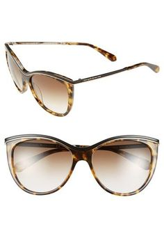 Finish off a glamorous look with gorgeous tortoise Kate Spade cat eye sunglasses.:
