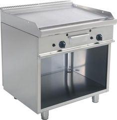 Gas-Griddleplatte-mit-offenem-Unterbau-Griddle-Platte-Standgeraet-Braeter-Gastro