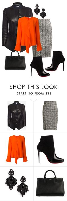 """""""# tweed"""" by andrea-jones-4 ❤ liked on Polyvore featuring Alexander McQueen, Emilio Pucci, Christian Louboutin, Tasha and Yves Saint Laurent"""