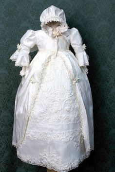 Ivory Silk Christening Gown/Victorian Christening Gown/ White Christening Gown/ I Love this dress, just wish it did not cost a fortune!!