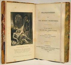 """""""Frankenstein"""", 1839 edition."""