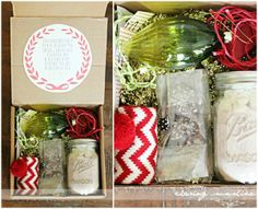 CHRISTMAS IN A BOX...a fun + easy gift to brighten someone's day!