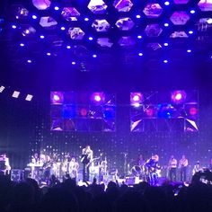 Check out the garland in the backdrop - it was reflective and beautiful at the arcade fire concert we went to the other night
