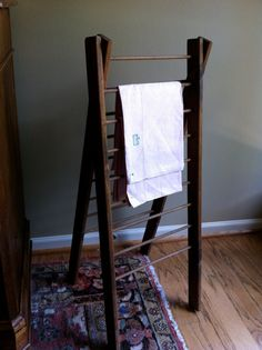 Antique Ladder Magazine Rack Towel Rack Display