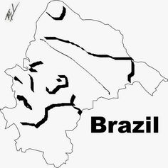 A funny map of Brazil