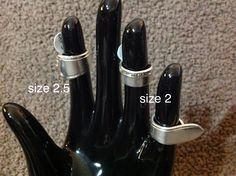 Silver Spoon rings $33 Spoon Rings, Silver Spoons, Knife Block