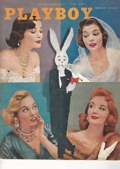 Vintage Playboy Magazine february 1956 mens adult glamour magazine | eBay